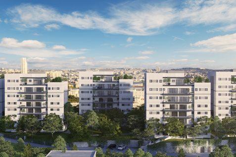 הדמיית הפרויקט בקרית יובל בירושלים של חברת צברים // הדמיה Viewpoint