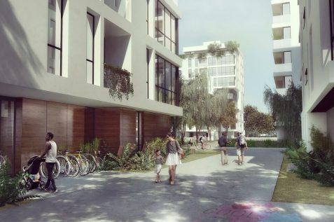 פינוי בינוי ברחובות // הדמיה: בר לוי אדריכלים ומתכנני ערים