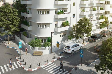 פרוייקט בורוכוב 9 של חברת יפו תל אביב קרדיט הדמייה: דיגיטל קלאוד