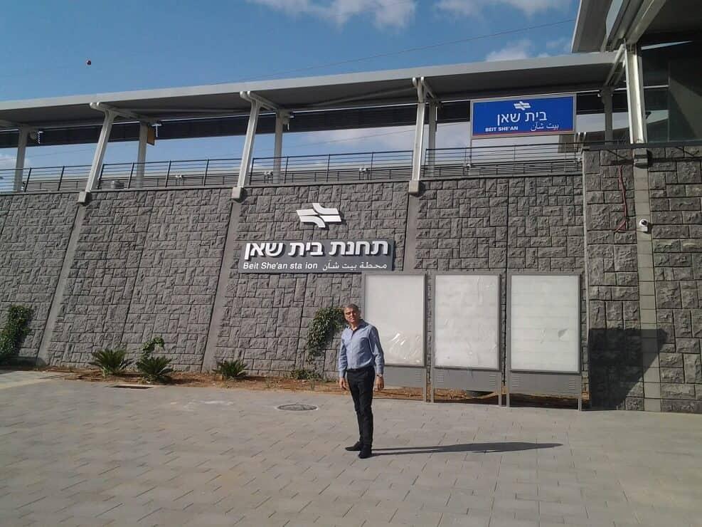 רכבת העמק, ראש עיריית בית שאן // צילום: דוברות והסברה עיריית בית שאן