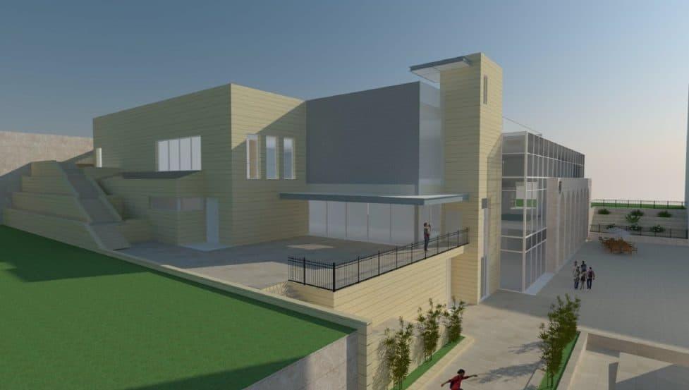 הדמיית בריכת שחיה בבית חנינא- אדריכל נ.אטשטיין // גלפז אדריכלות והנדסה