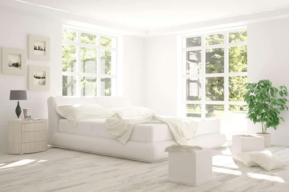 בעזרת הצבע הלבן, תוכלו ליצור קסם טהור בחדר השינה שלכם // shutterstock