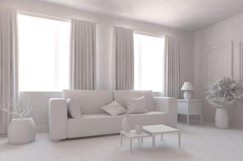 הבית הלבן: עיצוב נקי ובהיר לבית // shutterstock