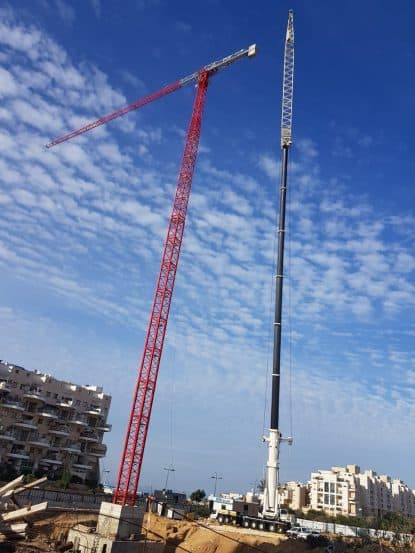 המנוף הגבוה בארץ של חברת יורו ישראל // צילום: ישראל גרופין