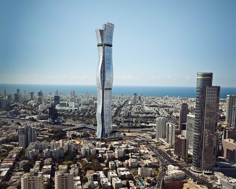 מגדל בין ערים תכנון: מילוסלבסקי אדריכלים ביחד עם אדריכל אמנון שוורץ  // הדמייה מילוסלבסקי אדריכלים