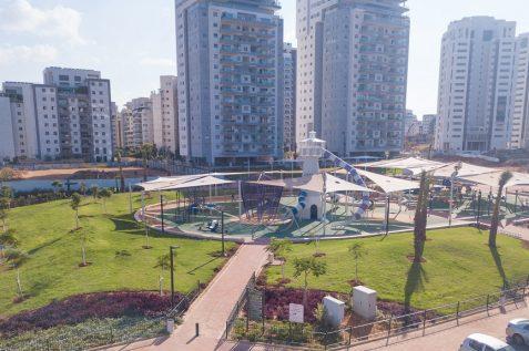 פארק חדש שנבנה בשכונת רחובות המדע