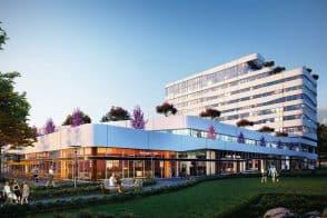 """הדמיית פרויקט סקיי ביהוד // נועם מרכזיים מסחריים בע""""מ // תכנון: משרד פדרו אדריכלים"""