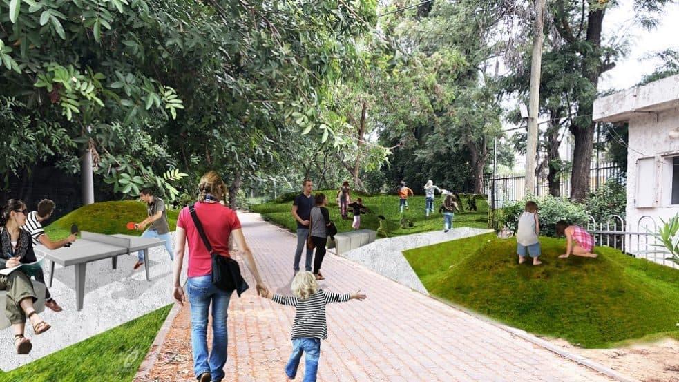 תכנית המרחב הציבורי - אדריכל העיר חולון אביעד מור // באדיבות עיריית חולון