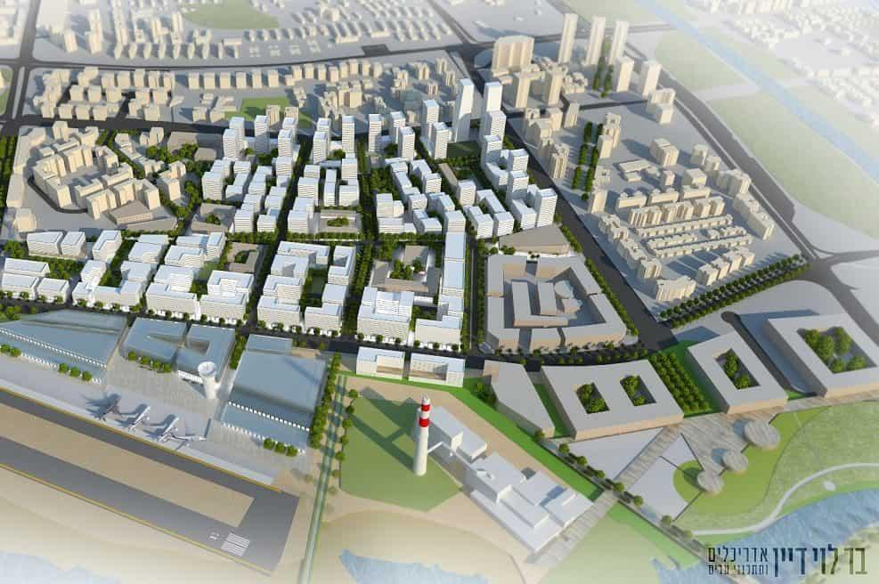 תכנית חלופית שדה דב // בר לוי דיין אדריכלים ומתכנני ערים