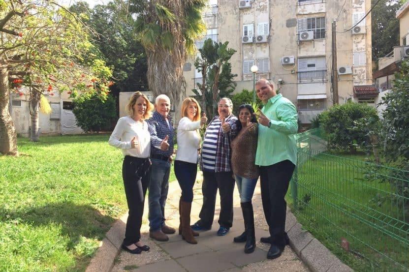 דיירי מתחם פינוי בינוי - נווה ישראל הרצליה // צילום: עזרא לוי