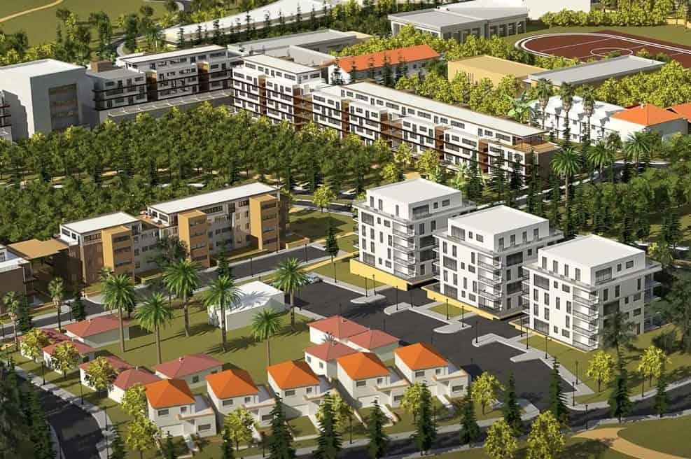 הדמיה לשכונה החדשה // הדמיה-פיק אדריכלים