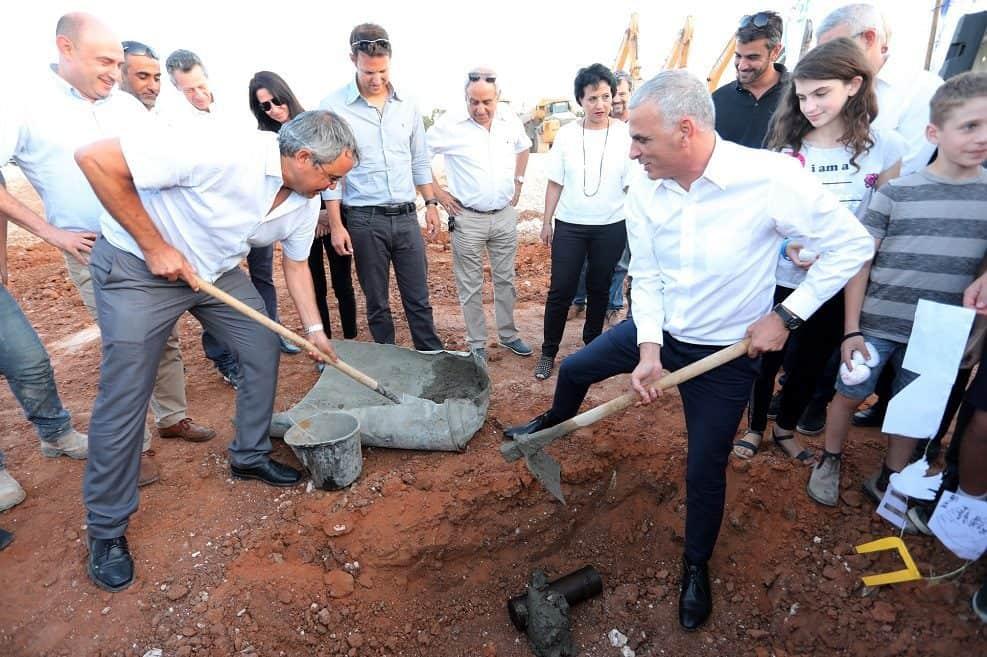 הנחת אבן פינה שכונת הדרים שוהם // צילום רועי ברפמן