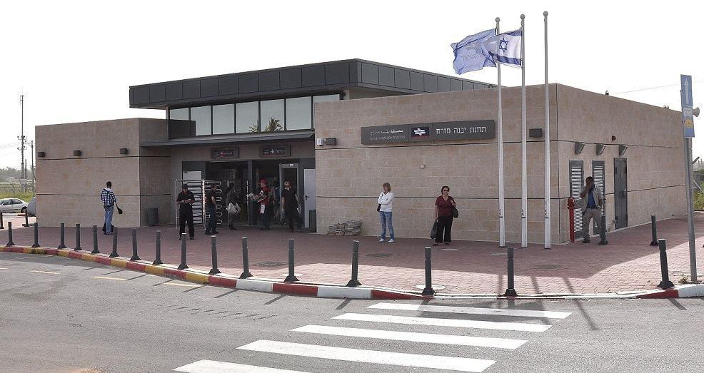 """תחנת הרכבת """"יבנה מזרח"""" // באדיבות דוברות עיריית יבנה"""