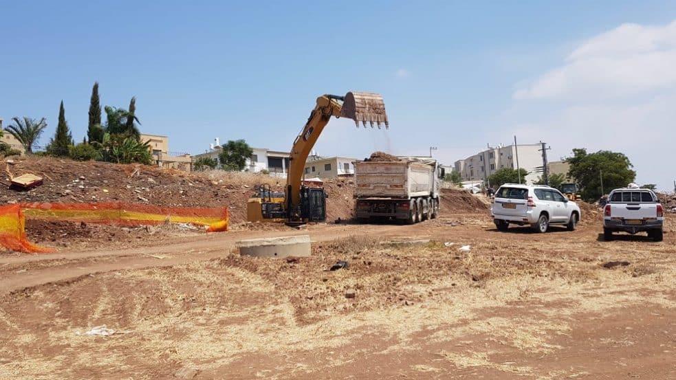 תחילת עבודות פיתוח // צילום באדיבות דוברות עיריית טבריה