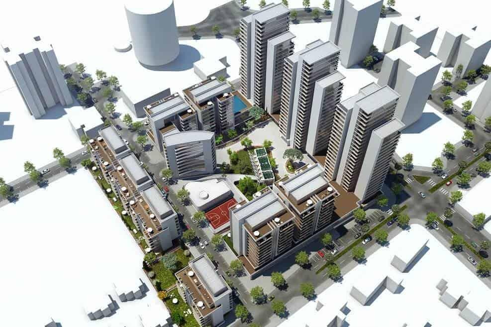 פינוי בינוי הרצליה | הדמיית הפרויקט בשיכון דרום // תכנון: אדריכל ניר חן