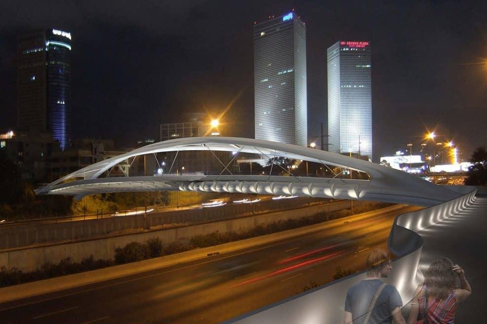 הדמיית גשר יהודית // באדיבות דוברות עיריית תל-אביב