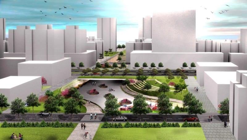 """הדמיית תוכנית מערב כפר יונה // צמיר אדריכלים ומתכנני ערים בע""""מ"""