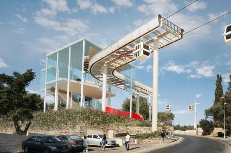 הדמיית תחנת הרכבל // באדיבות הרשות לפיתוח ירושלים