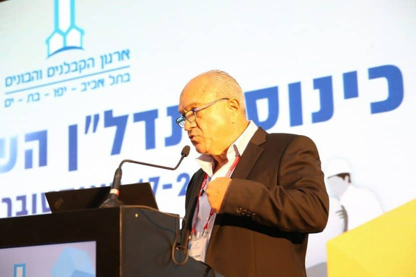 """יהודה כתב בכנס ארגון הקבלנים ת""""א יפו בת ים // צילום: מיכל מסינג"""
