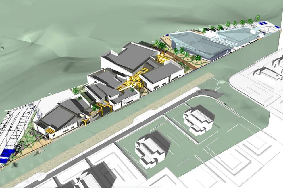 מרכז בשכונת כלניות בבאר שבע בתכנון מרש אדריכלים // הדמייה מרש אדריכלים