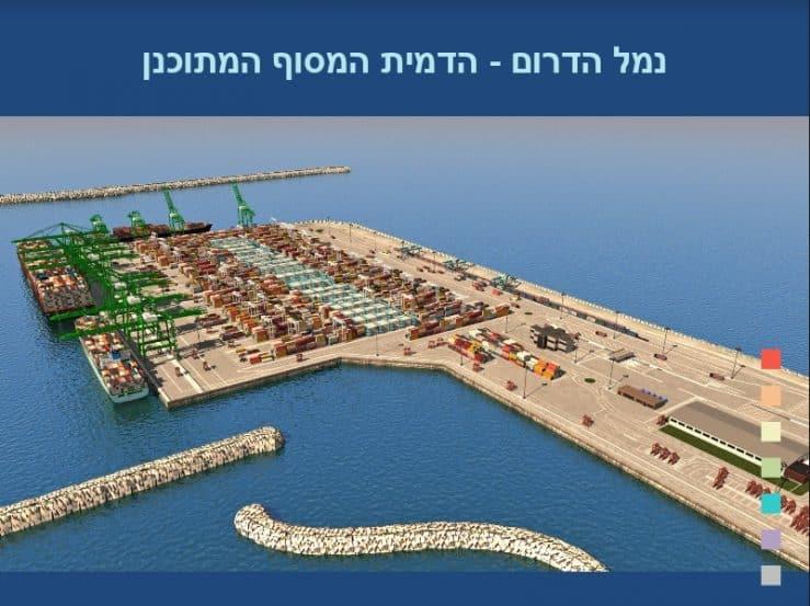 נדמיית נמל אשדוד באדיבות משרד האוצר