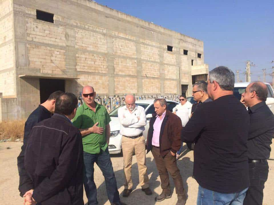 ראש העיר בסיור בשטח המפעל // דוברות עיריית בית שאן