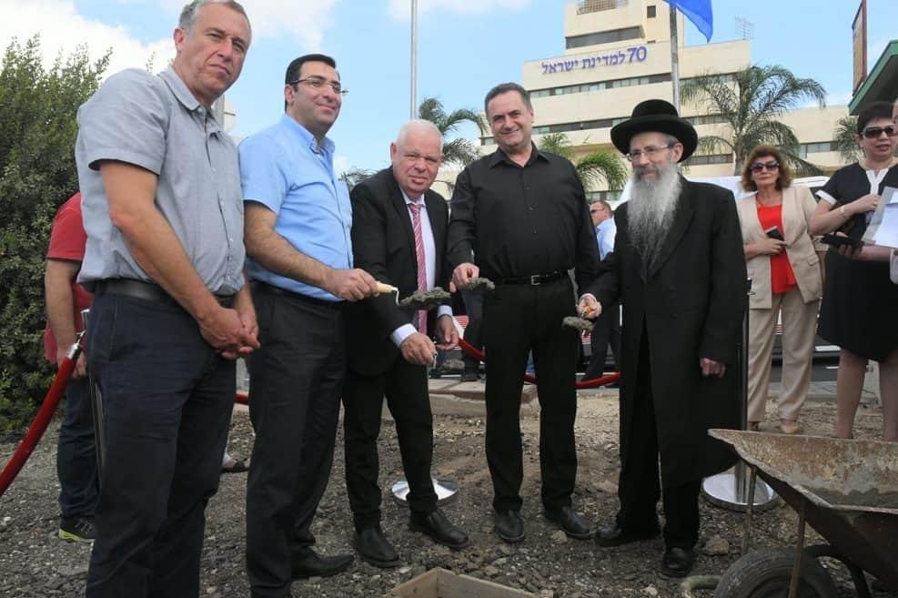הנחת אבן פינה להקמת תחנת רכבת בנצרת עילית // צילום: ישראל פרץ