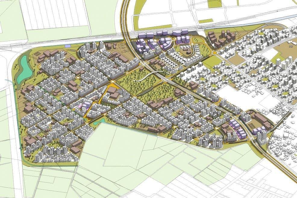 הדמיית תוכנית מערב לוד // תכנון: אדריכלים יאיר אביגדור ורונן כינורי