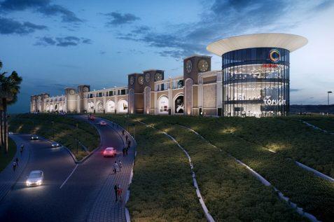 הדמיית דיזיין סיטי מישור אדומים של קס // תכנון: אדריכל שלמה גרטנר