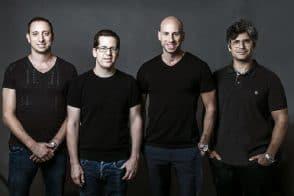מייסדי SkyLine AI - משמאל לימין עירי עמירב, גיא ציפורי, אמיר לייטרסדורף ואור הילטש // צילום: שחף הבר