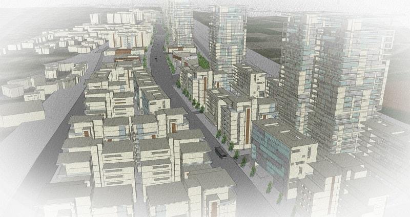הדמיית תוכנית מתחם הבננה נתניה // תכנון: דורון צוף זילברברג אדריכלים