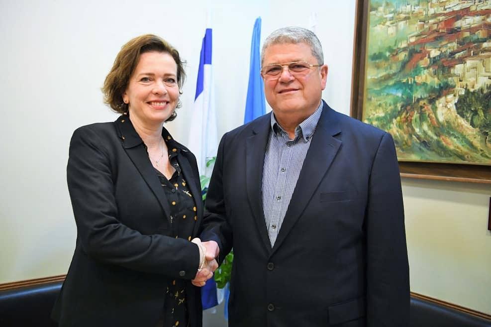 שטיאסני וקליש // צילום: ראובן כהן / דוברות עיריית חיפה