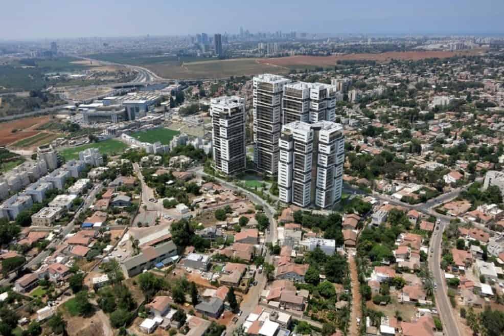 הדמיית פרויקט רמות בעיר של יובלים וישראל לוי // יחצ