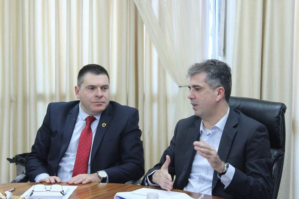 שר הכלכלה אלי כהן בביקור בצפת // צילום: עיריית צפת