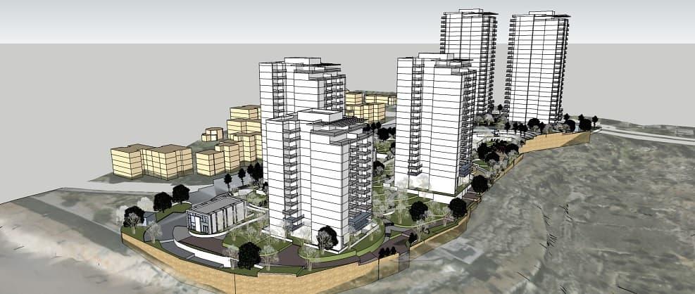 הדמיית פינוי בינוי בשכונת גילה של אשדר // תכנון: יסקי מור סיון אדריכלים ומתכנני ערים