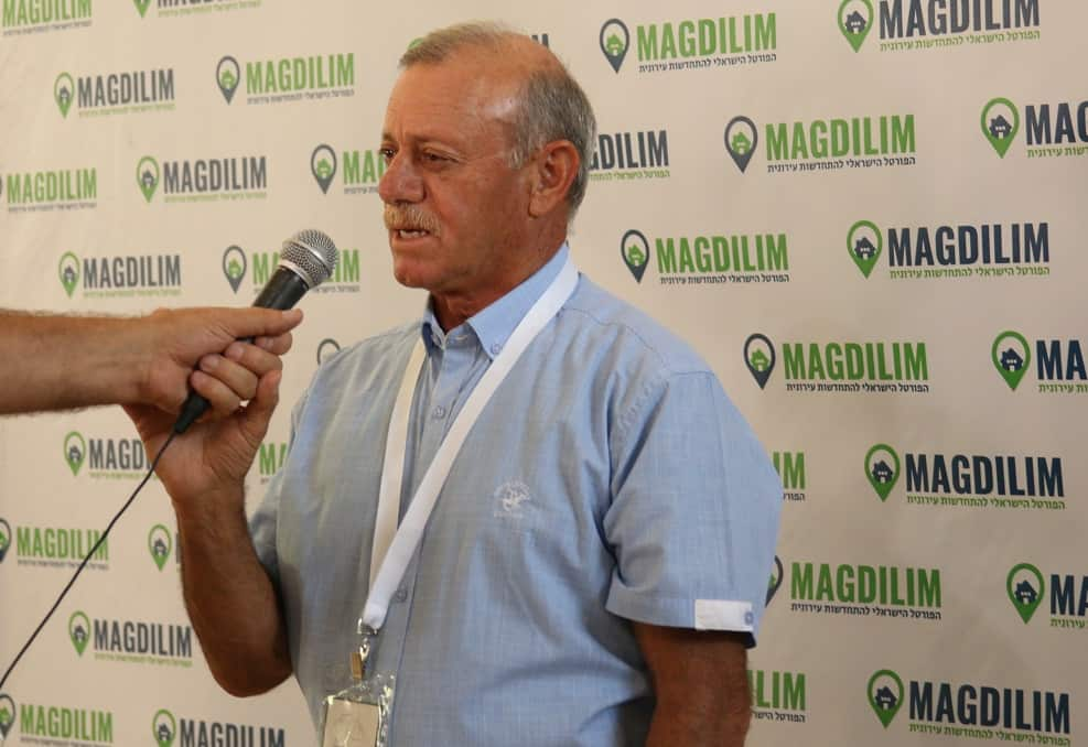 אמנון בראזני בכנס התחדשות עירונית // צילום: מיכל מסינג
