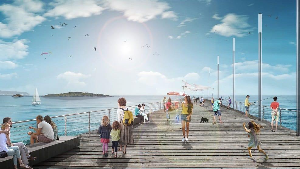 קריית ים | הדמיית הרציף החדש בקריית ים // באדיבות עירייה