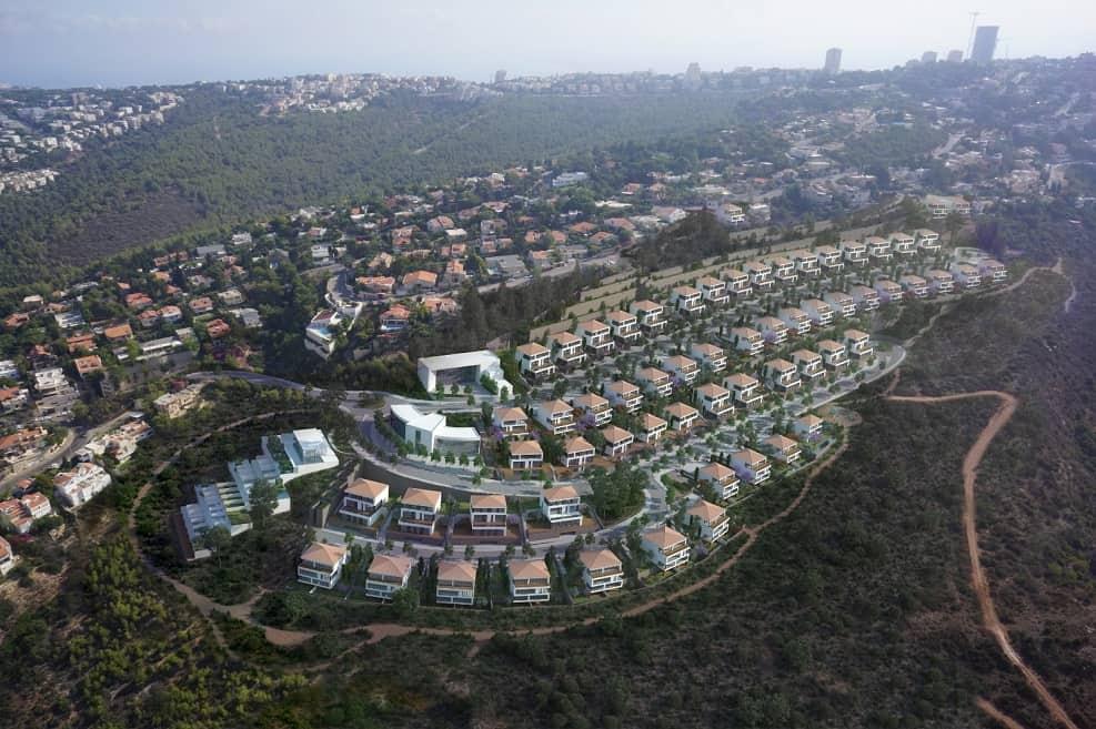 הדמיית פרויקט דניה הירוקה בחיפה // אדריכל התכנית הוא רני זיס