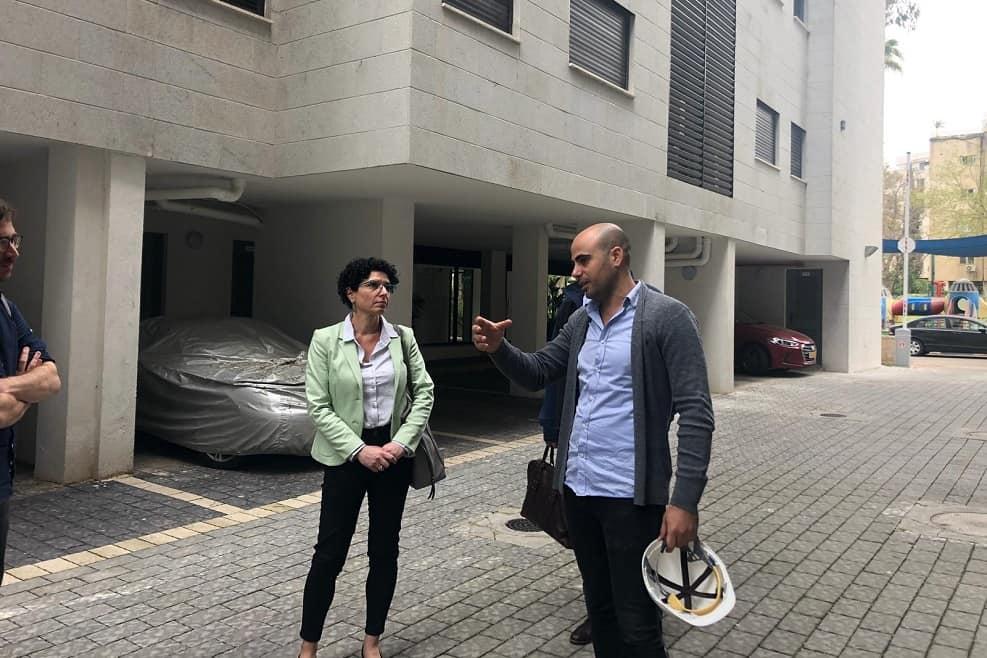 אליאב אסייג מנכל רינובו ועינת גנון סמנכלית הרשות להתחדשות עירונית // יחצ