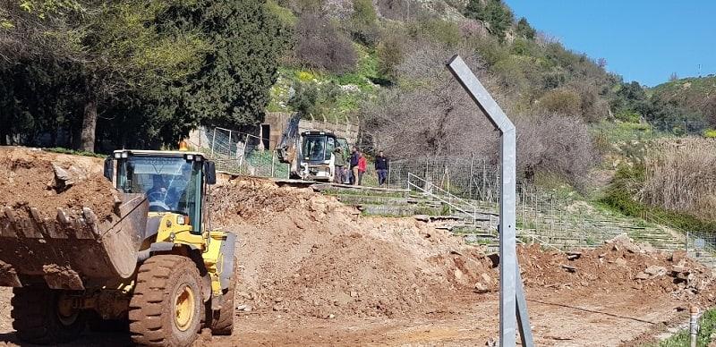 הקמת האצטדיון החדש בצפת // באדיבות דוברות העירייה