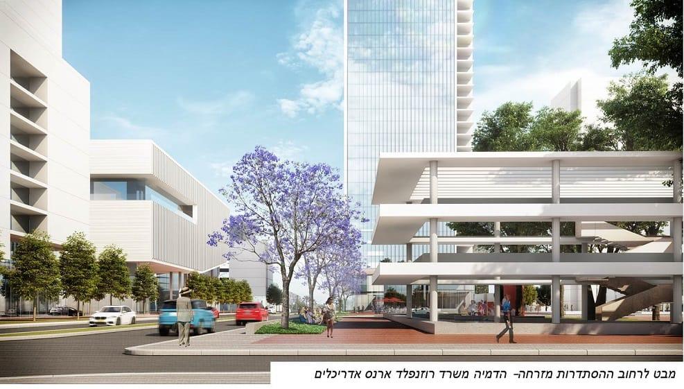 הדמיות תוכנית האב כיכר בארי בחולון // תכנון: רוזנפלד-ארנס אדריכלים