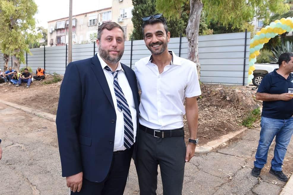 יקי אמסלם מנכל אלמוג ומיכי אלפר סגן ראש העיר חיפה // אופיר נחמני