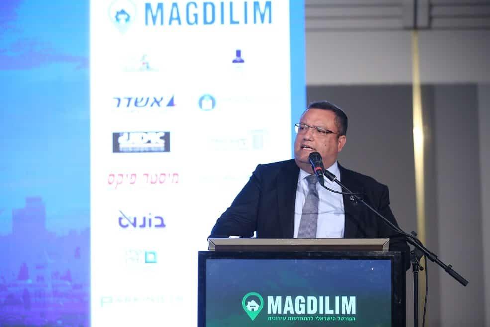 """האם לגנוז את תמ""""א 38? ראש עיריית ירושלים משה לאון בכנס מגדילים // צילום דרור סיתהכל"""