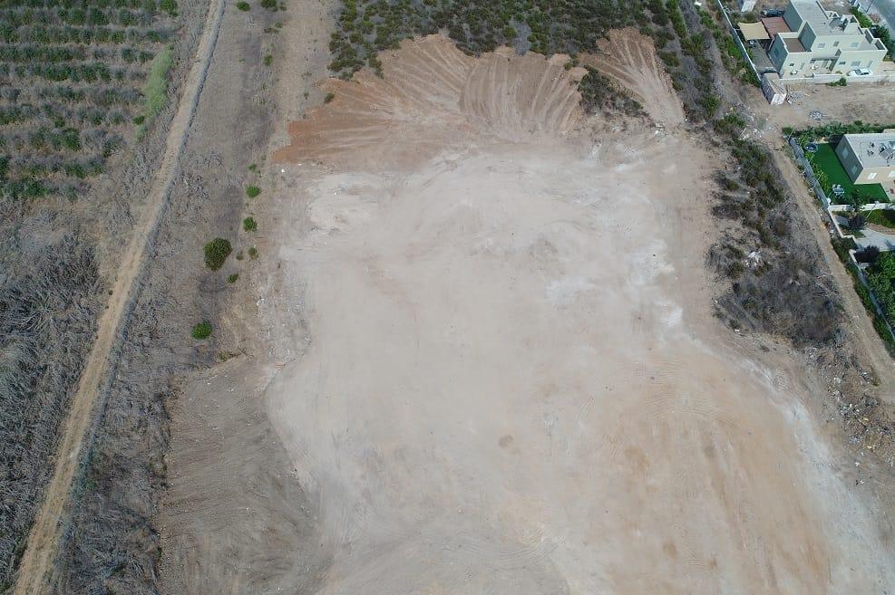 השלכת פסולת באר גנים - לאחר הניקיון // המשרד להגנת הסביבה