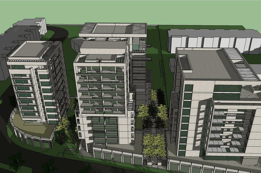 הדמיה לתכנית הבניה ברחוב ארץ חפץ בשמואל הנביא // אדריכל אנדרס פרנקוס