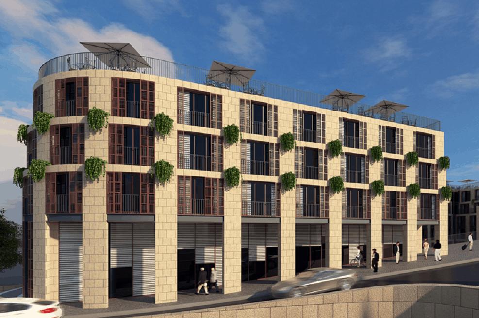 הדמיית המלון החדש // משרד פייגין אדריכלים