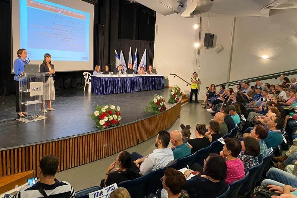 ראש עיריית חיפה מציגה תוכנית התחדשות עירונית // צילום: ראובן כהן, דוברות עיריית חיפה