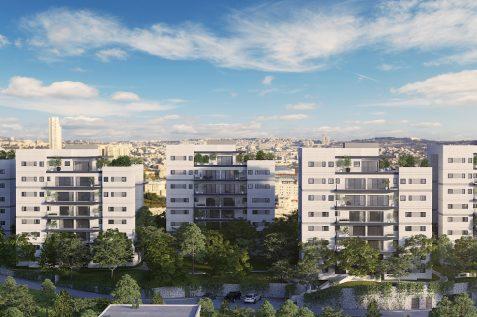 הפרויקט בקרית יובל בירושלים של חברת צברים // הדמיה: Viewpoint