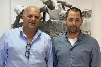 מימין ניר ינושבסקי וצביקה דוד סגני נשיא התאחדות בוני הארץ - צילום יחצ