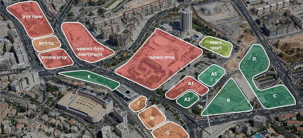 המתחמים בירושלים // באדיבות העירייה